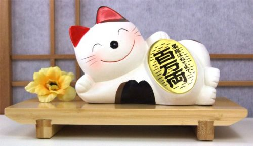 Joyful Lucky Cat with a million gold coin (C-22)
